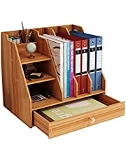 $24 » Landmore Wooden Desktop Organizer, Office Supplies Storage with Drawer, Multi-Functional Desktop Organizer, Easy Assembly, for Office, School and Home
