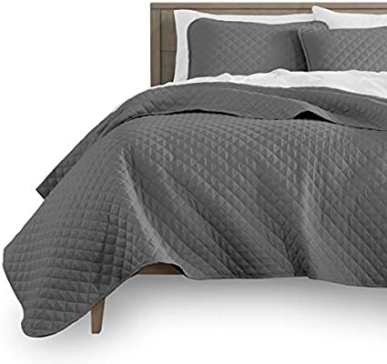 Diamond Stitched Twin//Twin Extra Long Size Bare Home Premium 2 Piece Coverlet Set Ultra-Soft Luxurious Lightweight All Season Bedspread Twin//Twin XL, Sand