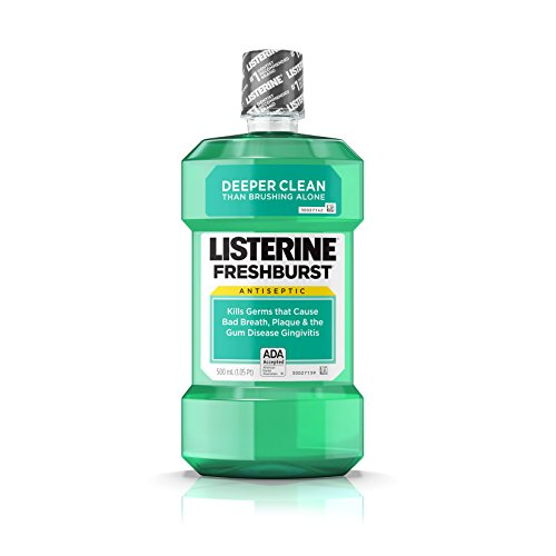 (Listerine Freshburst Antiseptic Mouthwash with Germ-Killing Oral Care Formula to Fight Bad Breath, Plaque and Gingivitis, 500 mL)