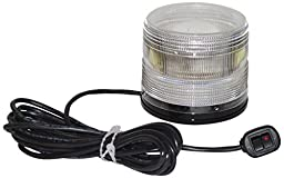 North American Signal LED625MX-C LED Beacon, Magnetic Mount, Clear