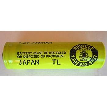 Amazon.com: Panasonic/Sanyo NiCd AA Flat Top Battery with