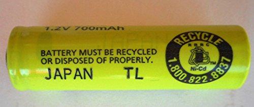 Combo: 4 Pcs - Panasonic / Sanyo NiCd AA Flat Top Battery (no tabs) - for shavers, razors, etc (Sanyo Batteries Nicad)