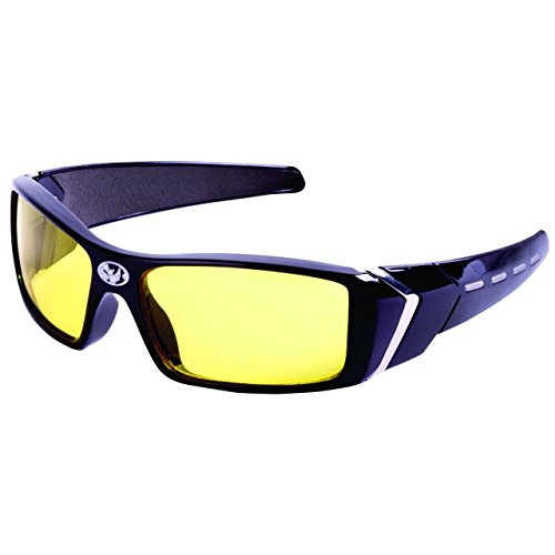Black Rhino Chromies Safety Glasses Black Frame, Yellow Anti-Fog Lens, Sold - Sunglass Chicago Repair