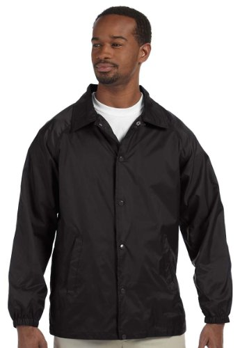 Harriton Nylon Staff Jacket L Black by Harriton