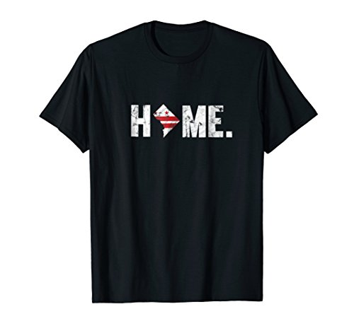 Home State DC Flag Distressed T-Shirt