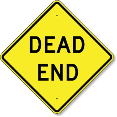 "Dead End traffic sign, Size=24""x24"""