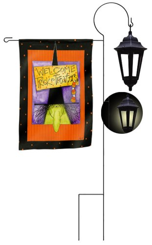 Evergreen Enterprises Solar Garden Flag Lantern Stand