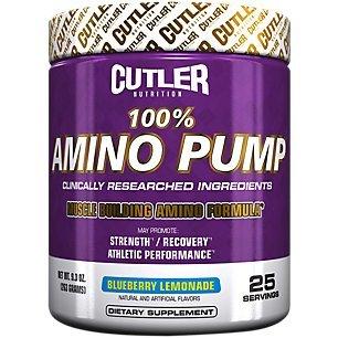 Cutler Nutrition 100% Amino Pump Muscle Building Formula, Blueberry Lemonade, 9.3 Ounce