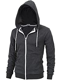 """""""DELIGHT"""" Men's Fashion Fit Full-zip HOODIE with Inner Cell Phone Pocket"""
