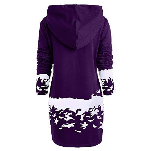 1953 Wapiti Noel Robes robe À Hiver Capuchon Mini Femmes De Violet Noël Mrulic Capuche Vintage Décontractée qC1TgwO