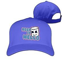 Unisex Keep It Mello-Marshmello Cotton Snapback Baseball Cap Hip Hop Hats