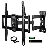 USX MOUNT Full Motion TV Wall Mounts Bracket with Swivel Articulating Arm for 26-55' Flat Screen LED LCD 4K TVs,TV Mounts with VESA Up to 400x400mm and Max Weight Up to 60lbs XMM007