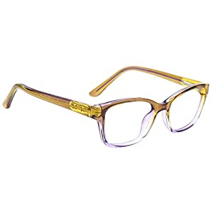 modesoda Kids Nerdy Ractangla Translucent Non-prescription Eyeglasses for Girls and Boys