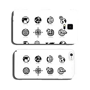 Globe earth vector icons set 10 cell phone cover case Samsung S6