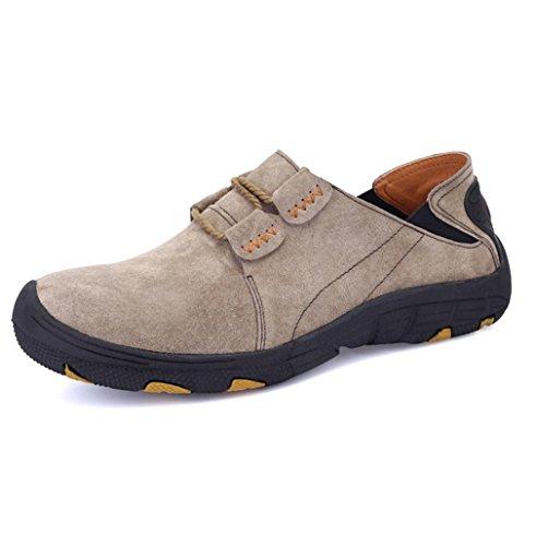 Heart&M zapatos de cuero de hombres negocios informal comodidad gamuza cuero baja Ash