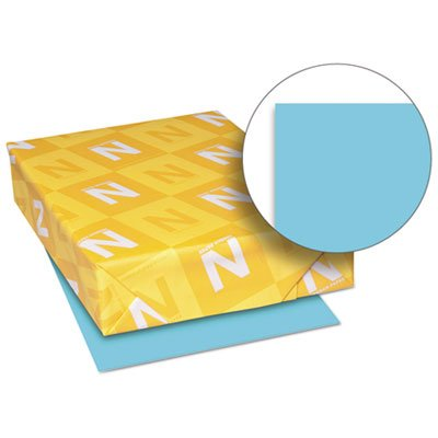 Exact Brights Paper, 8 1/2 x 11, Bright Blue, 50 lb, 500 Sheets/Ream, Sold as 1 Ream, 500 per Ream