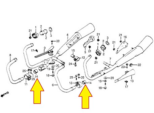 HONDA SUPER SPORT NEW K&L HEADER TO MUFFLER PIPE CONNECTOR GASKET P-16-5565 by Generic (Image #3)