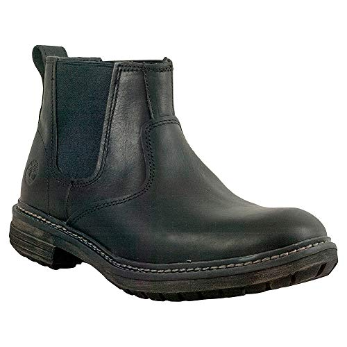Timberland Men's Logan Bay Chelsea Boot, Black Full Grain Leather, 9 Medium US (Best Deal On Timberland Boots)