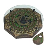Fortune Telling Toys Ouija Board Talking Spirit Board Earth Pentacle Black Cat Moon Glass Top