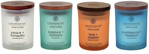 Chesapeake Bay Candle Mind & Body Small Scented Candle Gift Set #1 (Jar Candle Set)