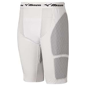 Mizuno Youth G3 Padded Sliding Short with Cup (White, Medium)