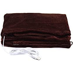 CoCocina Usb Powered Soft Heated Shawl Electric Warming Heating Blanket Winter Pad - Black