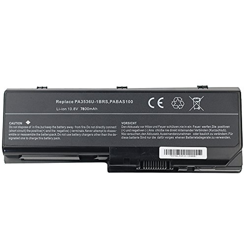 (Super-Capacity Li-ion Battery For Toshiba Satellite P200 series replace PA3536U-1BRS , PA3537U-1BAS , PA3537U-1BRS , PABAS100 , PABAS101 series Ac Laptop Notebook Main Battery [ 7200mAh 9 Cells])