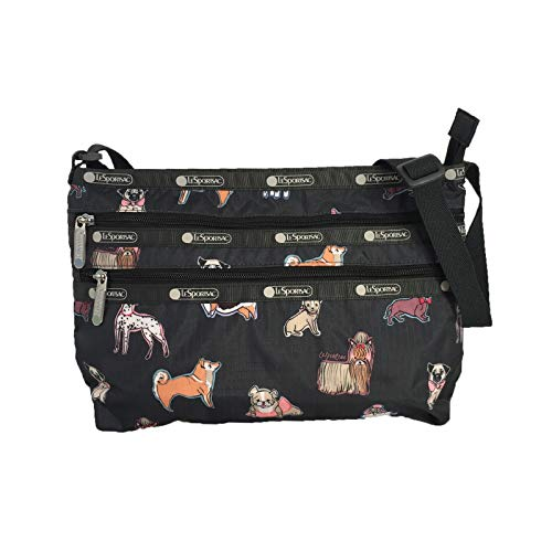 LeSportsac Dog Print Quinn Convertible Crossbody Bag, Take A Bow Wow