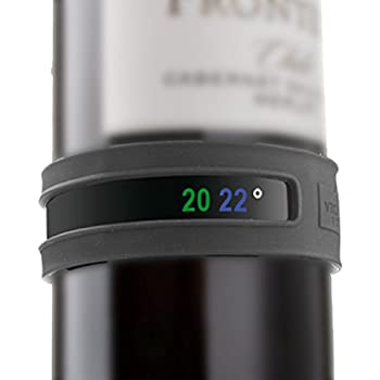 Vacu Vin Wine and Champagne Bottle Snap Thermometer - Grey