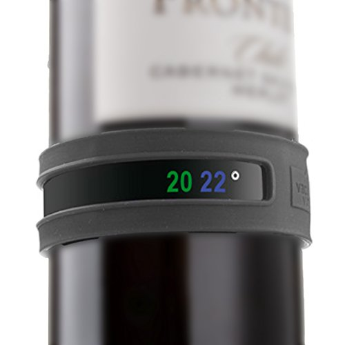 Vacu Vin Wine and Champagne Bottle Snap Thermometer - (French Garden Champagne)