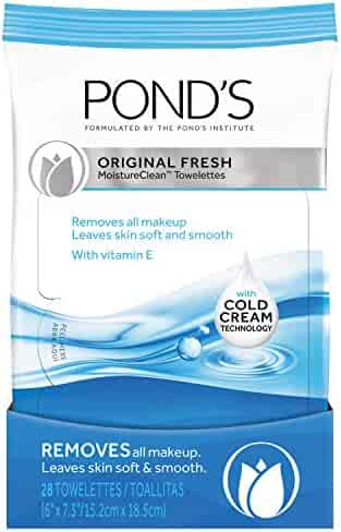 Pond's Makeup Remover Wipes, Original Fresh 28 ct, Pack of 4