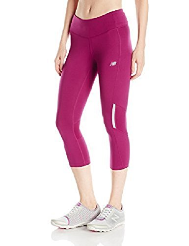 (New Balance Women's Run Capri, Deep Jewel,)