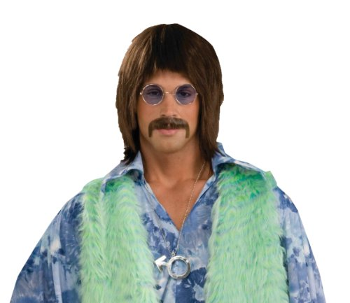 Sonny Bono And Cher Costumes (Forum Novelties Men's 1960's Costume Singer Wig, Brown, One Size)