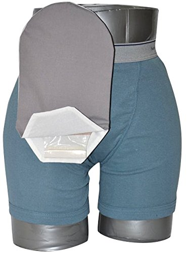 Daily Wear Pouch Cover, Open End, Fits Flange Opening of 3/4'' to 2-1/4'', Overall Length 10'', Grey by C & S OSTOMY POUCH COVERS