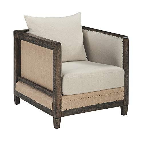 Ashley Furniture Signature Design Copeland Accent Chair - Casual Style - Linen - Black Nailhead Trim