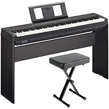 yamaha p45 digital piano deluxe bundle with. Black Bedroom Furniture Sets. Home Design Ideas
