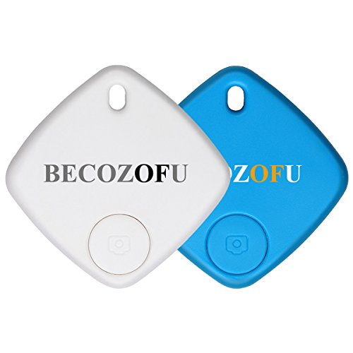 2-Pack Anti Lost Smart Car Key Finder Locator Keychain Wallet Remote Key Tracker Device with App for Iphone Only