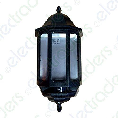 60w Black Half Lantern With Photocell ASD HL/BK060C JEG-JE855BK