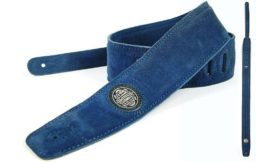 Blue Guitar Strap: 'Padded' Suede Electric/Acoustic/Electro/Bass 1to1Music GST-610-BU