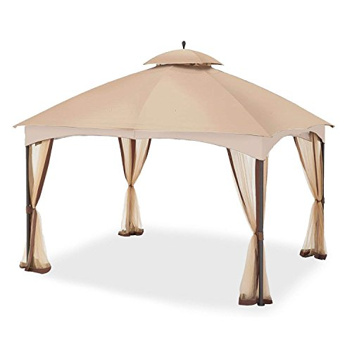 Garden Winds Replacement Canopy Top Cover for The Massillon Biscayne 10' x 12' Gazebo - 350 (Covers 10x12 Gazebo)