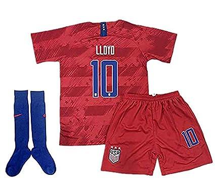 premium selection 970e1 d0838 Amazon.com : NSPOROH Carli Lloyd #10 2019 Women's World Cup ...