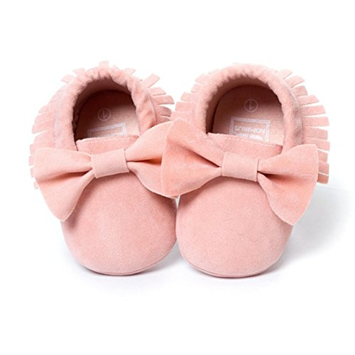 Newborn Casual Shoes,Kimanli Baby Crib Tassels Bowknot Shoes Toddler Sneakers (0~6months)