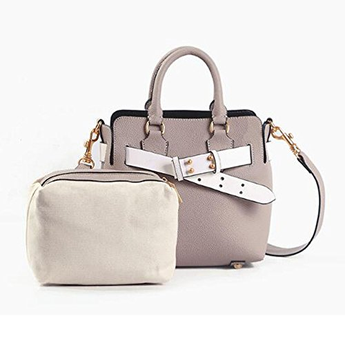 Leather Grey Ladies Elegant Designer Handbags Women's Faux Tote Bags Shoulder w6nqY