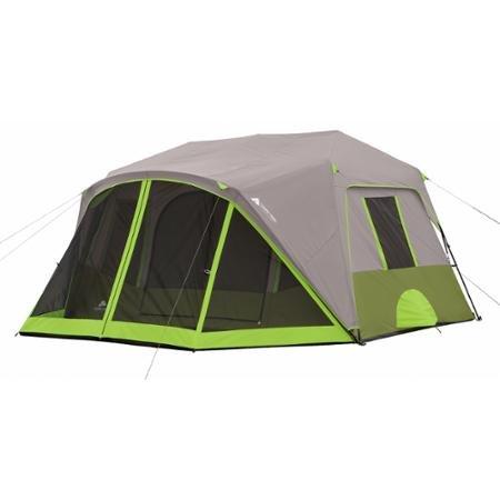 噴出する誓約アライアンスOzark Trail 9 Person 2 Room with Screen Room Instant Cabin Tent by Ozark Trail