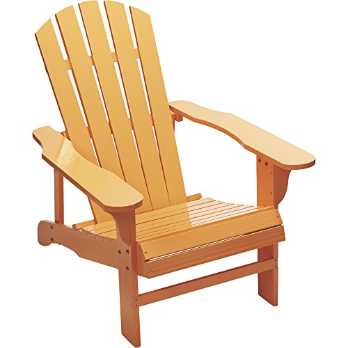 - Leigh Country Classic Peach Painted Wood Adirondack Chair