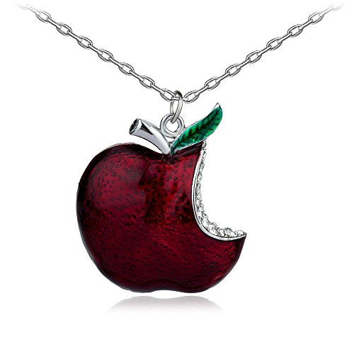 lan27 Once Upon A Time Snow White Regina Crystal Red Poison Apple Pendant Necklace Fan Gift (Big)