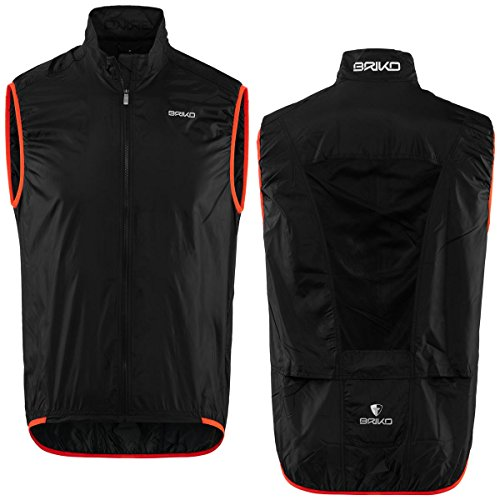 orange Man Flame Black Packable Vest Piuma Briko qXYdBwX