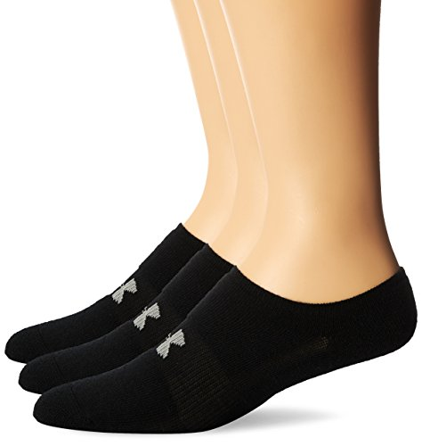 Under Armour Men's HeatGear Solo No-Show Socks (3 Pairs), Black, Large by Under Armour (Image #1)