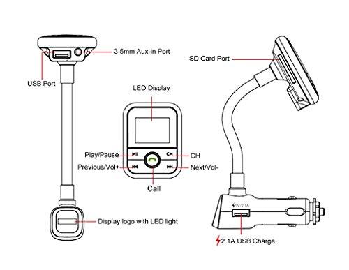 fm transmitter bluetooth usb flash drive music  enegg bluetooth hands free car kit mp3 player fm