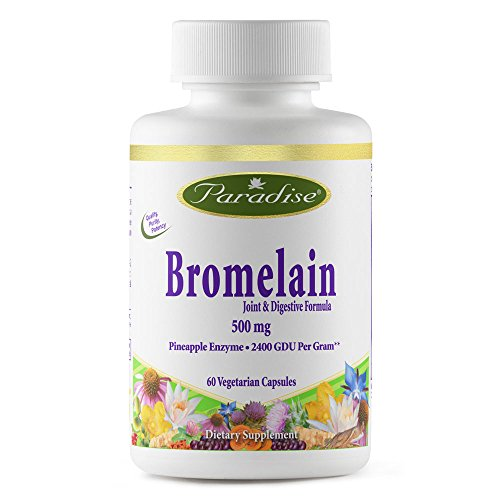 Paradise Herbs Bromelain Joint and Digestive Vegetarian Capsules, 60 Count For Sale